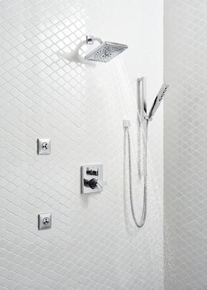 Chrome HydraChoice ® Square Body Spray Trim Product Image