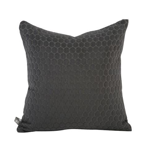 """Pillow Cover 16""""x16"""" Deco Pewter"""