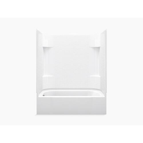 """Sterling - Accord® 60"""" x 30"""" Bath/shower with left-hand drain - White"""