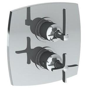 Wall Mounted Thermostatic Shower Trim With Built-in Control, 7 1/2