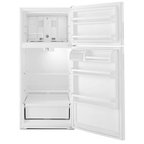 28-inch Top-Freezer Refrigerator with Dairy Bin White