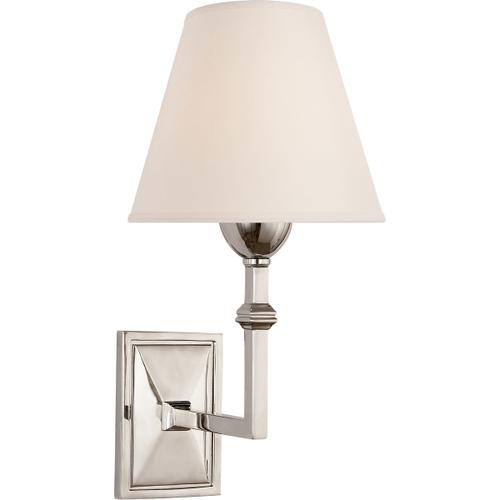 Alexa Hampton Jane 1 Light 7 inch Polished Nickel Sconce Wall Light, Alexa Hampton, Natural Paper Shade