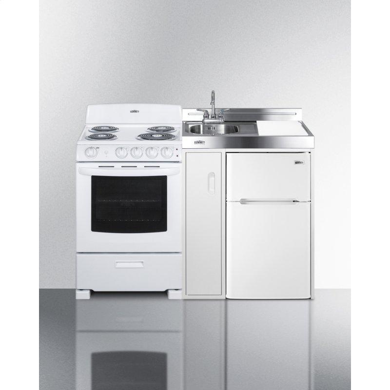 """54"""" Wide All-in-one Kitchenette With Electric Coil Range"""