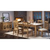 Telluride Ext Table W/(4) Chairs, Bench