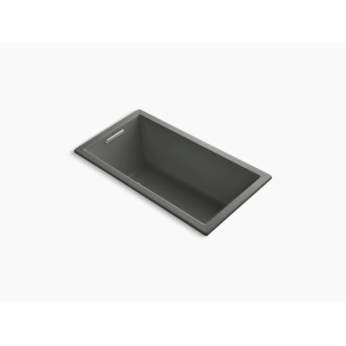 """Thunder Grey 60"""" X 32"""" Drop-in Vibracoustic Bath With Bask Heated Surface"""