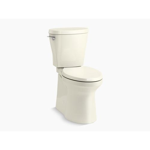 Biscuit Betello With Continuousclean Comfort Height Two-piece Elongated 1.28 Gpf Toilet With Continuousclean, Skirted Trapway, Revolution 360 Swirl Flushing Technology and Left-hand Trip Lever, Seat Not Included