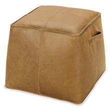 See Details - Dizzy Small Leather Ottoman