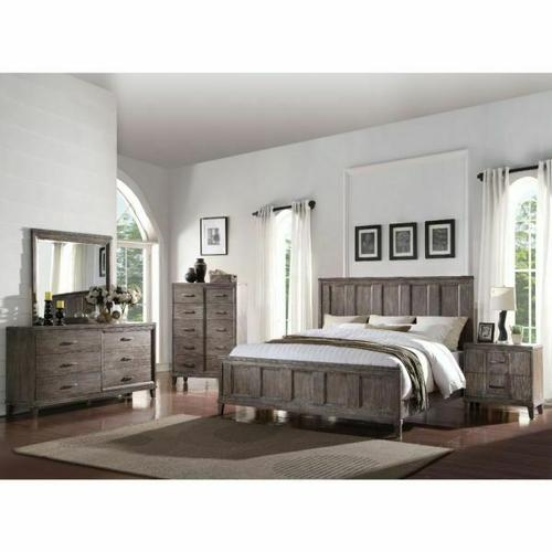 ACME Bayonne Eastern King Bed - 23887EK - Burnt Oak