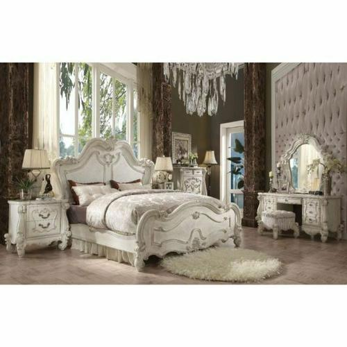 ACME Versailles California King Bed - 21754CK - Bone White