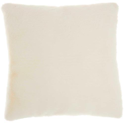 "Faux Fur Ap100 White 20"" X 20"" Throw Pillow"