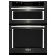 """See Details - 27"""" Combination Wall Oven with Even-Heat™ True Convection (lower oven) - Black Stainless Steel with PrintShield™ Finish"""