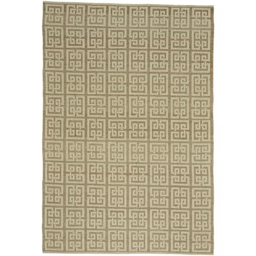Palace Fret Bracken Cream Hand Loomed Area Rugs