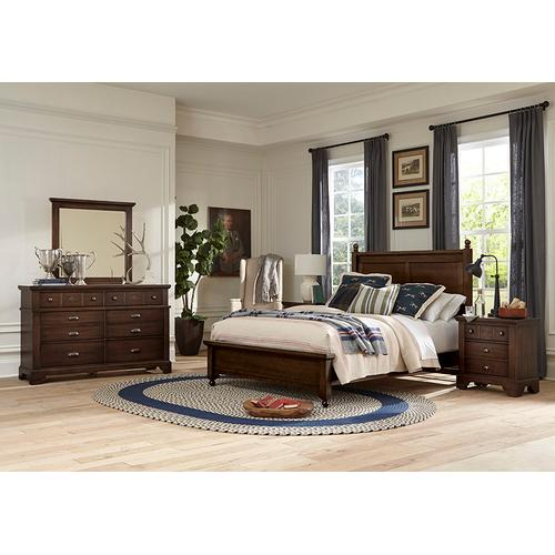 "King ""Gilchrist"" Poster Bed with Low Profile Footboard"