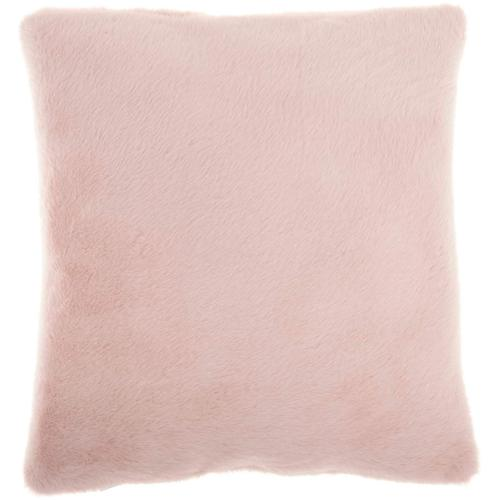 """Faux Fur Ap100 Blush 20"""" X 20"""" Throw Pillow"""