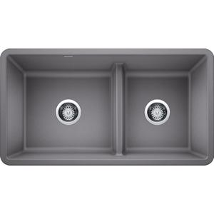 Precis Reverse 1-3/4 Bowl With Low Divide - Metallic Gray