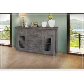 See Details - 6 Drawer & 2 Doors Console Stone Finish