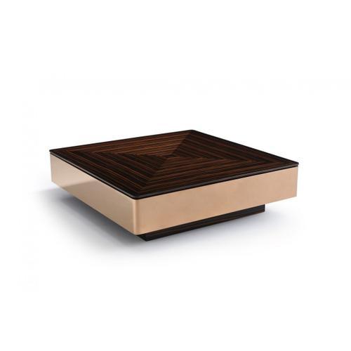 VIG Furniture - Modrest Larice Modern Square Ebony & Rosegold Coffee Table