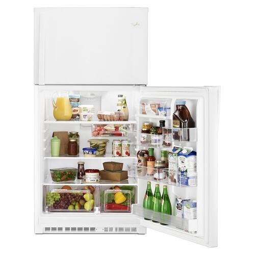 """Whirlpool® 33"""" Wide Top-Freezer Refrigerator with Optional EZ Connect Icemaker Kit"""