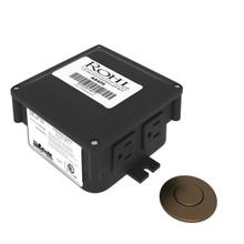 English Bronze Air Activated Switch Button With Control Box For Waste Disposal