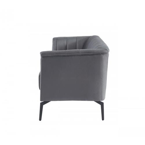 VIG Furniture - Divani Casa Patton - Modern Dark Grey Fabric Sofa