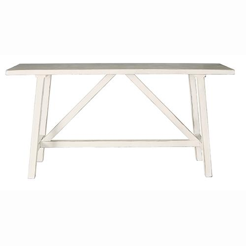 Console/Counter Table - Antique White Linen Finish