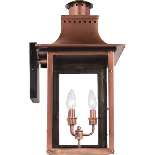 Quoizel - Chalmers Outdoor Lantern in Aged Copper