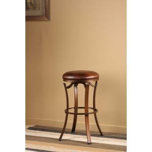 Kelford Backless Swivel Bar Stool, Bronze