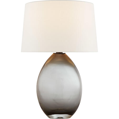 Visual Comfort - Chapman & Myers Myla 27 inch 100.00 watt Smoked Glass Table Lamp Portable Light, Medium