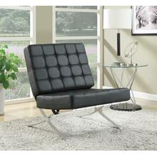 Black and Chrome Accent Chair