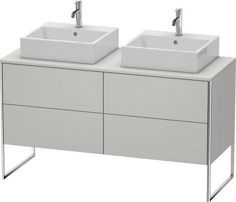 Product Image - Vanity Unit For Console Floorstanding, Nordic White Satin Matte (lacquer)
