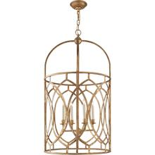 View Product - E. F. Chapman Marquise 6 Light 21 inch Gilded Iron Foyer Pendant Ceiling Light