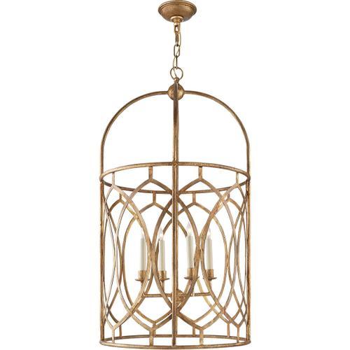 - E. F. Chapman Marquise 6 Light 21 inch Gilded Iron Foyer Pendant Ceiling Light