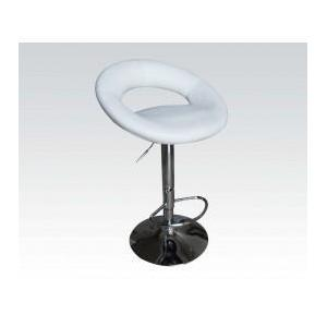 Acme Furniture Inc - White Pu Adjustable Stool