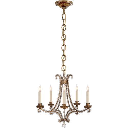 Visual Comfort - E. F. Chapman Oslo 5 Light 17 inch Gilded Iron Chandelier Ceiling Light