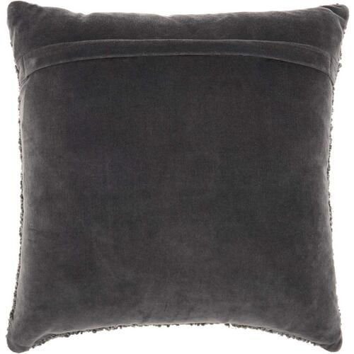 "Luminescence E1199 Charcoal 18"" X 18"" Throw Pillow"