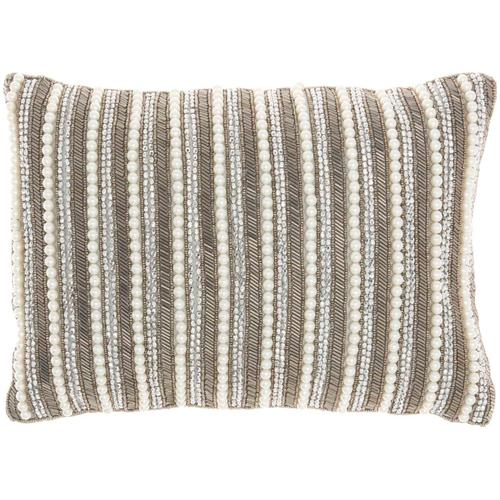 """Luminescence Z2014 Pewter 10"""" X 14"""" Throw Pillow"""