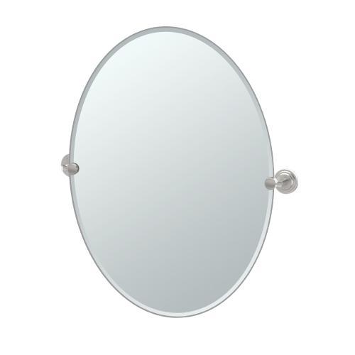Marina Oval Mirror in Satin Nickel