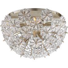 See Details - AERIN Lynn 8 Light 17 inch Burnished Silver Leaf Flush Mount Ceiling Light