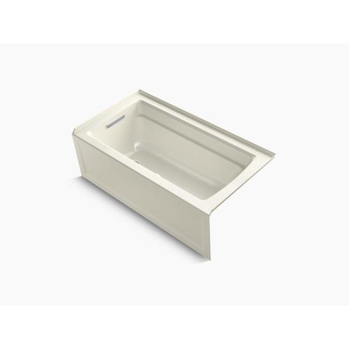 """Biscuit 60"""" X 32"""" Alcove Bath With Integral Apron, Integral Flange and Left-hand Drain"""