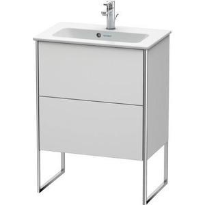 Vanity Unit Floorstanding Compact, White Satin Matte (lacquer)