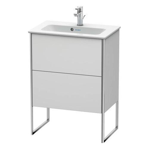 Product Image - Vanity Unit Floorstanding Compact, White Satin Matte (lacquer)
