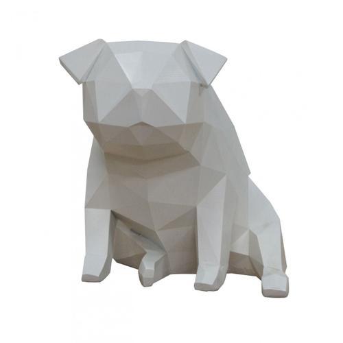 Gallery - Modrest Dog - Geometric White Sculpture