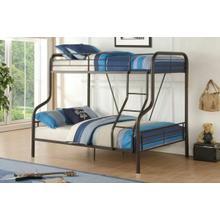 ACME Cairo Twin/Full Bunk Bed - 37610 - Sandy Black