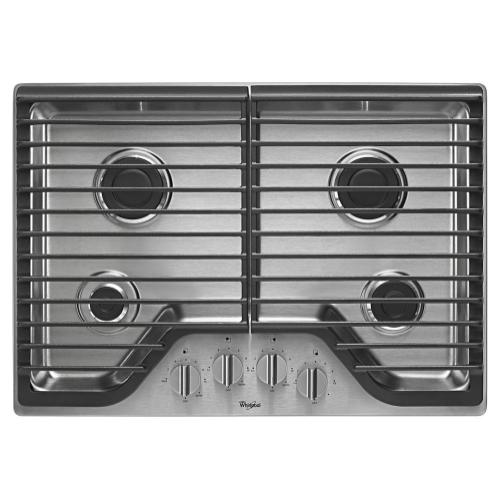 Whirlpool - 30 inch Gas Cooktop with Multiple SpeedHeat Burners