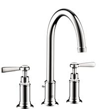 Chrome Widespread Faucet 180 with Lever Handles and Pop-Up Drain, 1.2 GPM