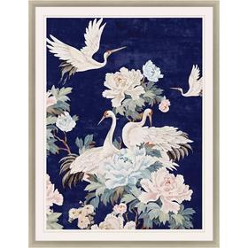 Pearly White Cranes II