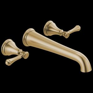 Champagne Bronze Wall Mounted Tub Filler Product Image