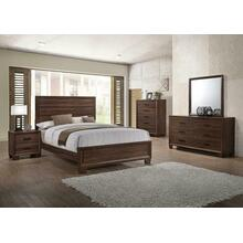 Brandon Transitional Medium Brown Queen Five-piece Set