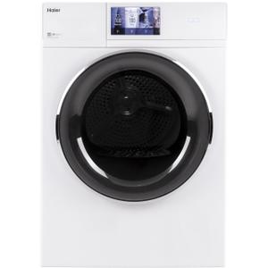 """Haier Appliance4.3 cu.ft. Capacity Smart 24"""" Frontload Electric Dryer with Stainless Steel Basket"""