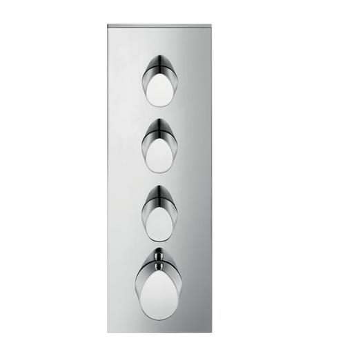 Polished Black Chrome Thermostatic module 360/120 for concealed installation